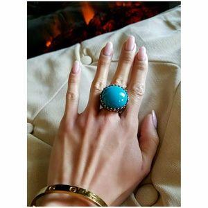💙 ASOS Turquoise Silver Statement Ring 💙